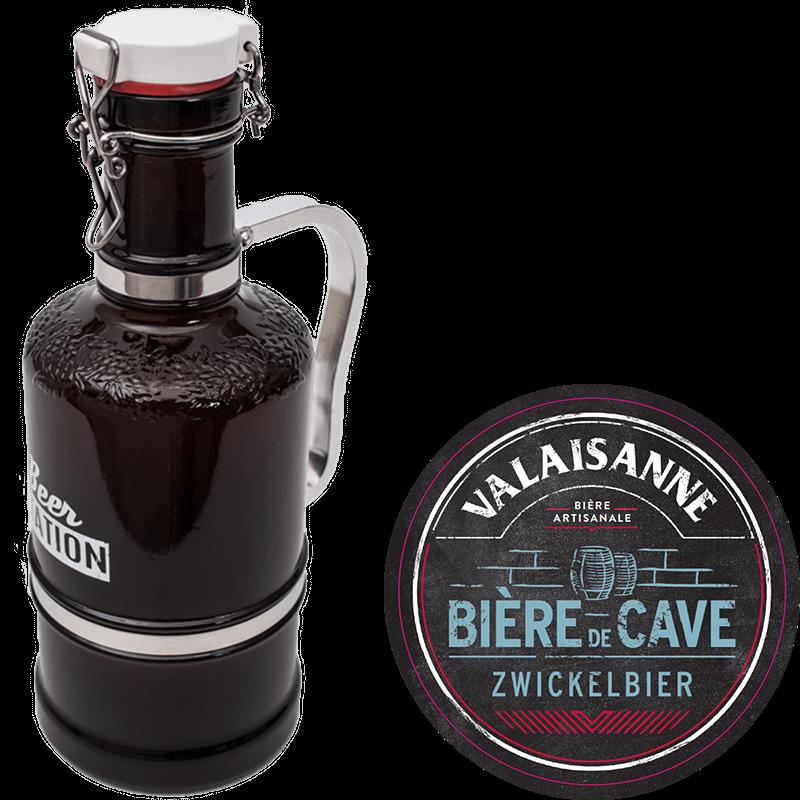 Carafe avec Valaisanne Bière de Cave (2l)
